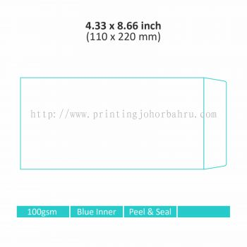 "4.33"" x 8.66"" Non-Window Envelope"