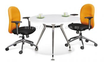 Round Meeting Table with Abies Leg
