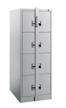 4 Drawer Steel Filing Cabinet C/W Locking Bar