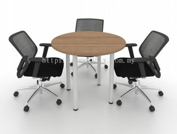 """Round Meeting Table with 2"""" Round Metal Leg"""