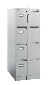 4 Drawer - Filing Cabinet, C/W Goose Neck Handle, C/W LOCKING BAR