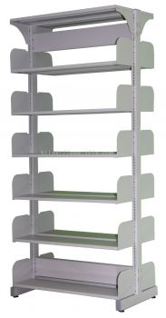 JS608 Library Double Sided Rack Without Steel Side Panel