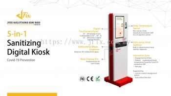 5-in-1 Sanitizing Digital Kiosk