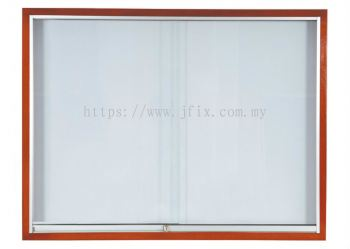 Sliding Glass Cabinet  Wooden Frame