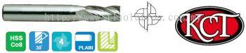 2 Flure & 4 Flute, Standard Length End Mill