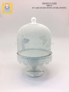 """8"""" CAKE STAND WITH COVER"""