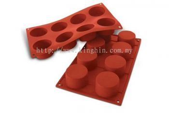 SF028 (6cm x 3.5cm) 8's Cylinders Mould