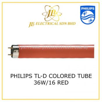 PHILIPS TL-D COLORED TUBE 36W/15 RED 871150072748040