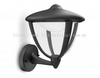 PHILIPS 15470 Robin wall lantern LED black 1x7W