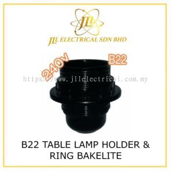 B22 TABLE LAMP HOLDER & RING BAKELITE