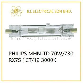 PHILIPS MHN-TD 70W/730 RX7s 1CT/12 3000K LOW WATTAGE METAL HALIDE