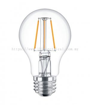 PHILIPS LED CLASSIC (NON DIMMABLE) 4-50W /470lm A60 WARM WHITE ( 2700K)