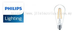 PHILIPS LED CLASSIC (NON DIMMABLE) 6-70W/806lm ST64 WARM WHITE (2700K)
