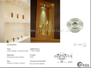DESS GLMG9005 LED Eyeball Cabinet Light RECESSED CEILING LIGHT