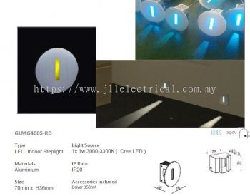 LES GLMG4005RD LED Indoor Steplight