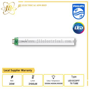 PHILIPS ECOFIT LED Tube T8 20w/2100lm HO 1200mm 3000K/4000K/6500K