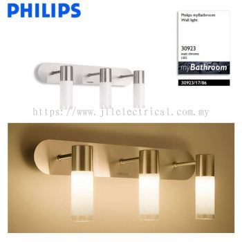 PHILIPS 30923 Bathroom Wall light Matt Chrome LED