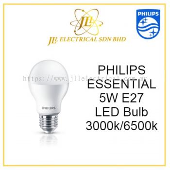PHILIPS ESSENTIAL 5W E27 LED Bulb Warm White 3000k