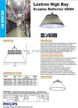 LUXTRON LED HIGHBAY ECOPLUS REFLECTOR GEN4