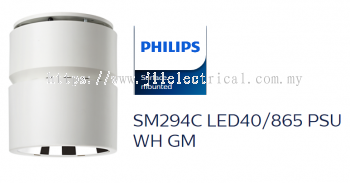 PHILIPS SM294C LED40/865 PSU WH GM SURFACE MOUNT MILO