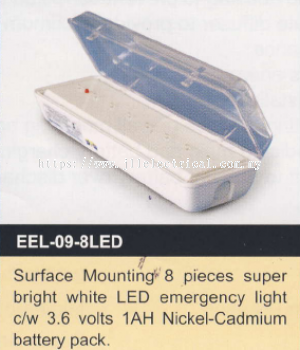 EVERBRIGHT EEL-09-8LED EMERGENCY LIGHT SURFACE