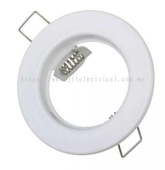Fixed-White-Recessed Ceiling Downlight SpotLight Fitting Metal Round White