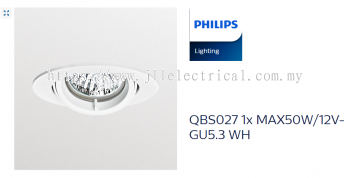 PHILIPS QBS027 EYEBALL WHITE