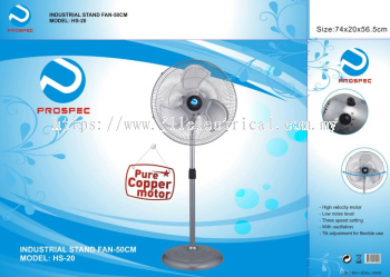"PROSPEC INDUSTRIAL FAN, 20"" INDUSTRIAL STAND FAN"