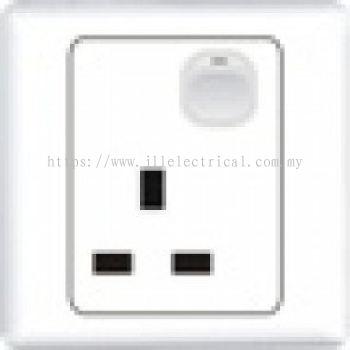 Simon Socket 51382-FULL WHITE 13A