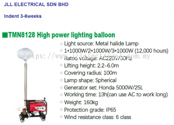 TMN8128 HIGH POWER EMERGENCY BALLOON / CONSTRUCTION