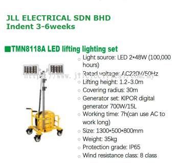TMN8118A LED LIFTING LIGHTING SET EMERGENCY CONSTRUCTION/RESCUE