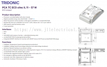 TRIDONIC PCA 2x26/32/42 TC or PLC/PLT ECO DALI TOUCH & DIM, DIMMABLE EB 22185121