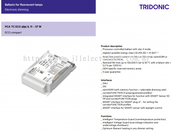TRIDONIC PCA 2X18/24 TCL/PLC/PLL ECO C DALI DIMMABLE EB 22185258
