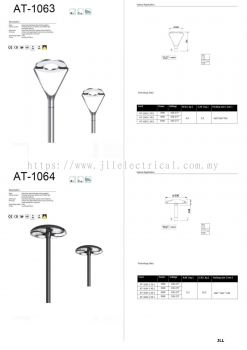AT1063 AT1064 TOP POST LED LANTERN