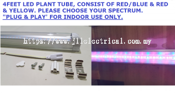 PLANT GROWING LED 4FEET TUBE RED WITH BLUE - CHOOSE YOUR SPECTRUM HYPOTHESIS