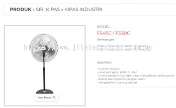 "CROWN INDUSTRIAL FAN, FS45C 18"" INDUSTRIAL STAND FAN (GRAY COLOR)"