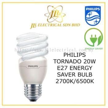 PHILIPS TORNADO 20W E27 ENERGY SAVER BULBS 27K WARM WHITE