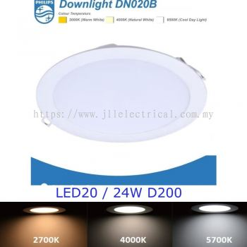PHILIPS DN020B LED20 24W D150 ROUND 3000K WARM WHITE