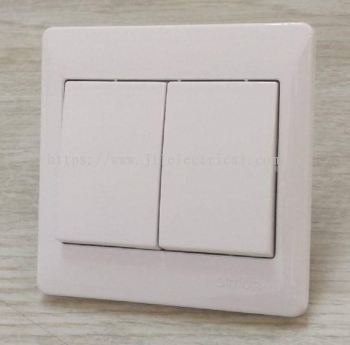 SIMON 51012B 10A 2GANG 1WAY SWITCH FULL WHITE
