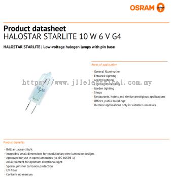 OSRAM 64410S 6V 10W T10 G4