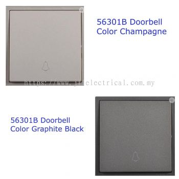 SIMON SWITCH 10A 1GANG 1WAY DOORBELL CHAMPAGNE / GRAPHITE BLACK