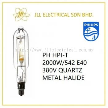 PHILIPS HPI-T 2000W/542 E40 380V QUARTZ METAL HALIDE LAMP