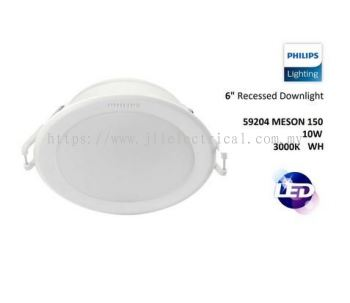 "PHILIPS 59204 D150 MESON 10W 6"" 3000k WARM WHITE LED DOWNLIGHT"