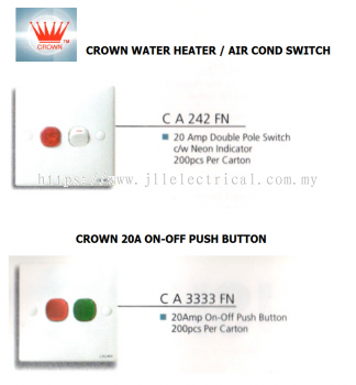 CROWN AIR-COND/WATER HEATER SWITCH