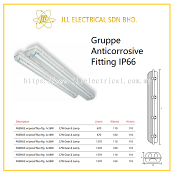 GRUPPE AVENUE T8 (IP66) ANTI CORROSIVE FITTING