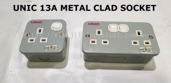 UNIC 13A METAL CLAD SWITCH SOCKET SINGLE & DOUBLE ESM15/2977/2946