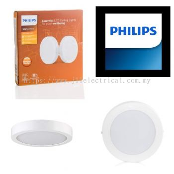 PHILIPS 59287 18W STAR SURFACE ROUND ULTRA SLIM DOWNLIGHT 6500K DAYLIGHT