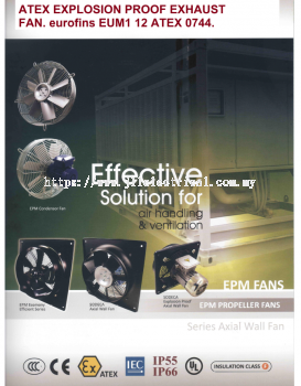 ATEX EXPLOSION PROOF EXHAUST FAN