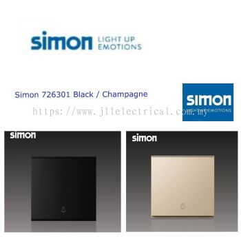 SIMON SWITCH 721011 16A 1 GANG DOORBELL SWITCH COLOR BLACK