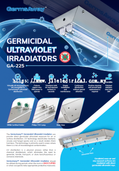 GermsAway GA-225 GERMICIDAL PHILIPS TUV 25W ULTRAVIOLET IRRADIATORS DISINFECTION LAMP